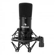 CM001B Studio-Mikrofon schwarz Kondensator Gesang Instrumente XLR Schwarz
