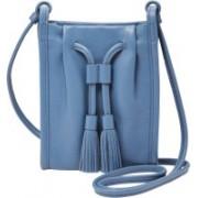 Fossil Women Blue Genuine Leather Messenger Bag