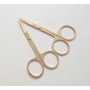 2 stks Professionele licht goud Nail Schaar Manicure Voor Nagels Wenkbrauw Neus Wimper Cuticle Schaar Gebogen Makeup Tools MyXL