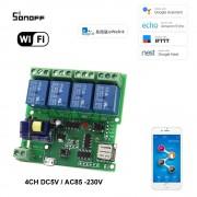 Sonoff 4CH DC5V /AC85-230V 4 Kanálový WiFI Spínač