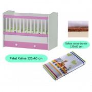 Set patut + salteluta Kalina White-Pink