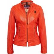 Blauer USA Icon Biker Chaqueta de cuero de las señoras Rojo S