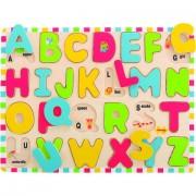Puzzle din lemn - Literele Alfabetului