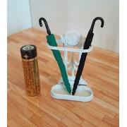 Suport pentru umbrele cu 2 umbrele - miniatura papusi