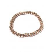 Silventi 910470836 Zilveren Kralen Armband - Zilver - Rekband - Kralen - 5mm - Rosekleurig - Zilverkleurig