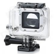 Estuche impermeable con anilla de aleacion de aluminio individual Anillo de lente para GoPro Hero 3 + / 3 - Anillo de plata