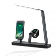 4smarts LED Charging Station LoomiDock - докинг станция за зареждане на iPhone и Apple Watch (черен)