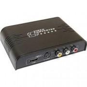 Techly Convertitore Composito, S-Video + Stereo Audio a HDMI