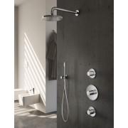 Hotbath IBS 1 Get Together inbouw doucheset Buddy - chroom - met staafhanddouche - 25cm hoofddouche - met plafondbuis 15cm - zonder glijstang