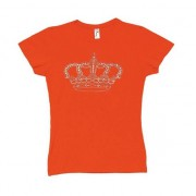 Geen Oranje shirt dames met kroon