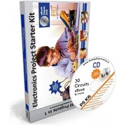 HE Retail Supplies Electronic Project & Circuit Starter Kit, 30 circuits in 1, with Spares, Videos DVD, eBook (Multi-Colour)