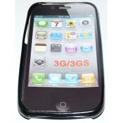 Силиконов гръб ТПУ за Apple iPhone 3G/3GS Черен