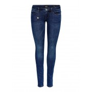ONLY Coral Superlow Skinny Jeans Dames Blauw / Female / Blauw / 30
