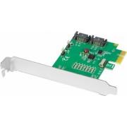 Card PCI-E x1 Axagon PCES-SA2 adaptor la 2x SATA 3.1 intern Suport TRIM