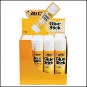 BIC 51423 GLUE STICK 36G ACID FREE DRIES CLEAR COUNTER DISPLAY 12
