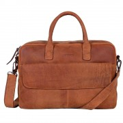 DSTRCT Wall Street Business Laptop Bag Cognac 15-17 inch