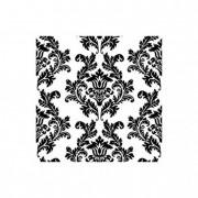 Szalvéta 3rétegű fehér-fekete 33cm III