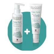 You derm pelle pura kit gel detergente viso + crema gel