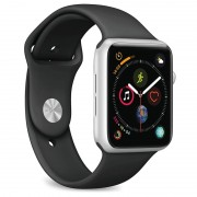 Puro Icon Apple Watch Series 4/3/2/1 Silicone Band - 38mm, 40mm - Black