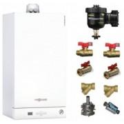 Pachet centrala termica in condensatie Viessmann Vitodens 050 W 24 kW + Filtru anti-magnetita Fernox TF1 + Kit accesorii instalare centrala