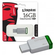 Kingston 16GB DT USB 3.0 DT50/16GB metal - zeleni