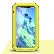 LOVE MEI for iPhone XS/X 5.8-inch Shockproof Dust-proof Defender Cell Phone Case - Yellow