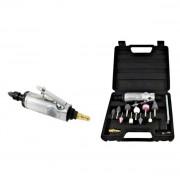 """Smerigliatrice/Miniutensile rotativo/Minitrapano/Trapano ad aria compressa/pneumatico 1/4""""-1/8"""" in valigetta con accessori"""