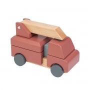 Sebra - Wooden fire engine, red