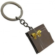 De-Ultimate Unisex Plain Photo Album Metallic Toy Key Ring/Keychain For Bikes/Scooty/Cars (Copper)