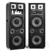 OneConcept BSX-210A Altavoces PA USB microSD AUX MIC 160W negro (GAV5-BSX-210A)