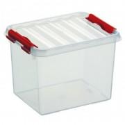 Merkloos Opberg box/opbergdoos 3 liter 20 x 15 x 14 cm kunststof - Opbergbox