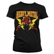 Iron Man Likes Heavy Metal Girly T-Shirt