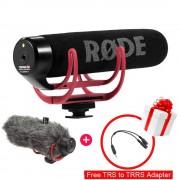 Ulanzi Video Recording Mic Rode VideoMic GO On-Camera Shotgun Microphone for Canon Nikon Sony DSLR DV Camcorder (Free Deadcat)
