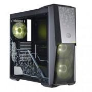 Кутия Cooler Master MasterBox MB500 RGB TUF Edition, ATX/mATX/Mini-ITX, 2x USB 3.0, прозрачни панели, 3x 120мм вентилатора с RGB подсветка, черна, без захранване