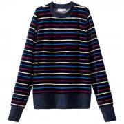 Gestreepte sweater in fluweel