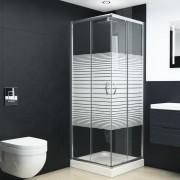 vidaXL Cabină de duș, 80 x 80 x 185 cm, sticlă securizată