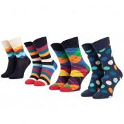 Комплект 4 чифта дълги чорапи унисекс HAPPY SOCKS - XMIX09-6000 Цветен