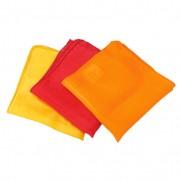 Set doekjes van biologische zijde, Rood-tinten l 87 x b 87 cm