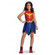 Vegaoo.es Disfraz clásico Wonder Woman Liga de la Justicia niña - 7 a 8 años (117 a 128 cm)