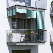 Jarolift Store Extérieur Vertical, Vert - Blanc, 180 x 240 cm