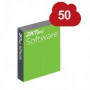 Licencia para 50 dispositivos para software ZKTIMEWEB2.0