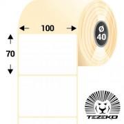 100 * 70 mm-es, 1 pályás papír etikett címke (1000 címke/tekercs)