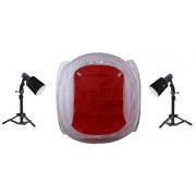 Zestaw oświetleniowy bezcieniowy - 2x45Ws + namiot 40cm + 2x statyw 80cm