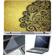 Finearts Laptop Skin Abstract Series 1008 With Screen Guard And Key Protector - Size 15.6 Inch