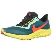 Nike Air Zoom Pegasus 36 Trail--301 Zapatillas de Trail Running para Mujer, Color Geode Teal/Bright Crimson-Black, 7