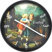 Evelyn Round Design Wall Clock for Office Bed Room Lobby Kitchen Stylish Wall Clocks Modern Design Wall Clock-Evc-02