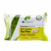 Dr.Organic bio teafa nedves törlőkendő 20 db