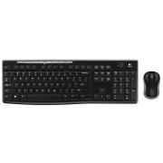 Tipkovnica Logitech MK270, USB wireless tipkovnica i miš, crna, 24mj, (920-004532)