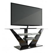TV Meubel Luna 140 cm breed met led - Hoogglans Zwart