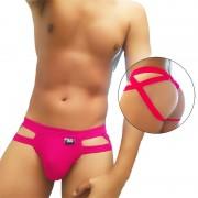Icker Sea Hoops Jock String Jock Strap Underwear Fuchsia COI-20-01